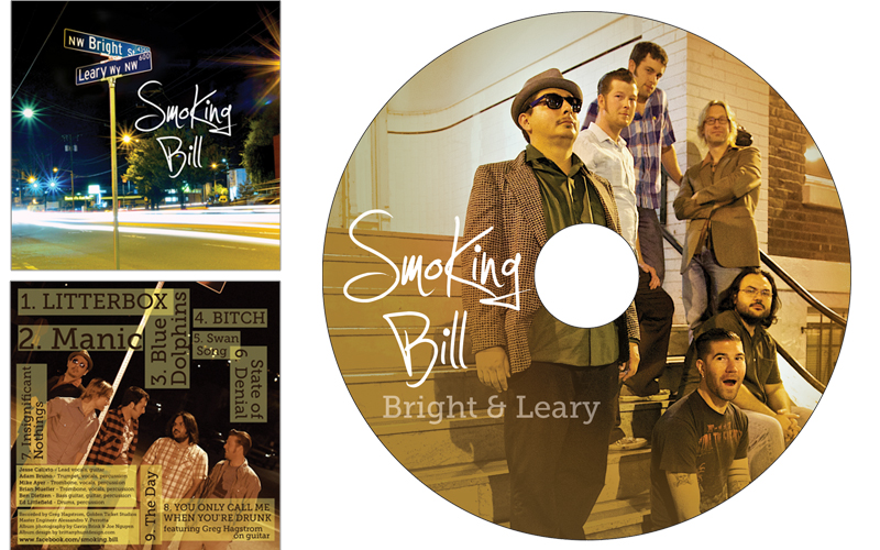CD Package Design for Smoking Bill
