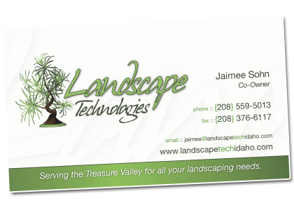landscaping business cards examples | template