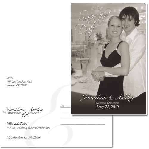 Save-the-Date Wedding Postcard