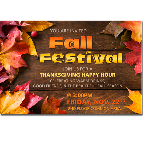 Fall Festival Happy Hour Flyer