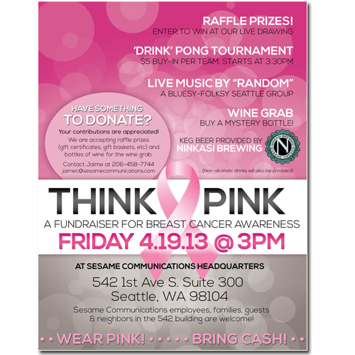 Think Pink Fundraiser Flyer